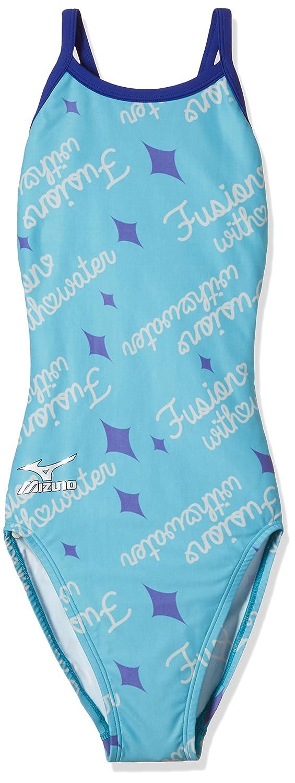 MIZUNO(ミズノ) 競泳水着 レディース エクサースーツ ミディアムカット ワンピース N2MA7771 B072LPN84K  32:ブルーグリーン X-Small