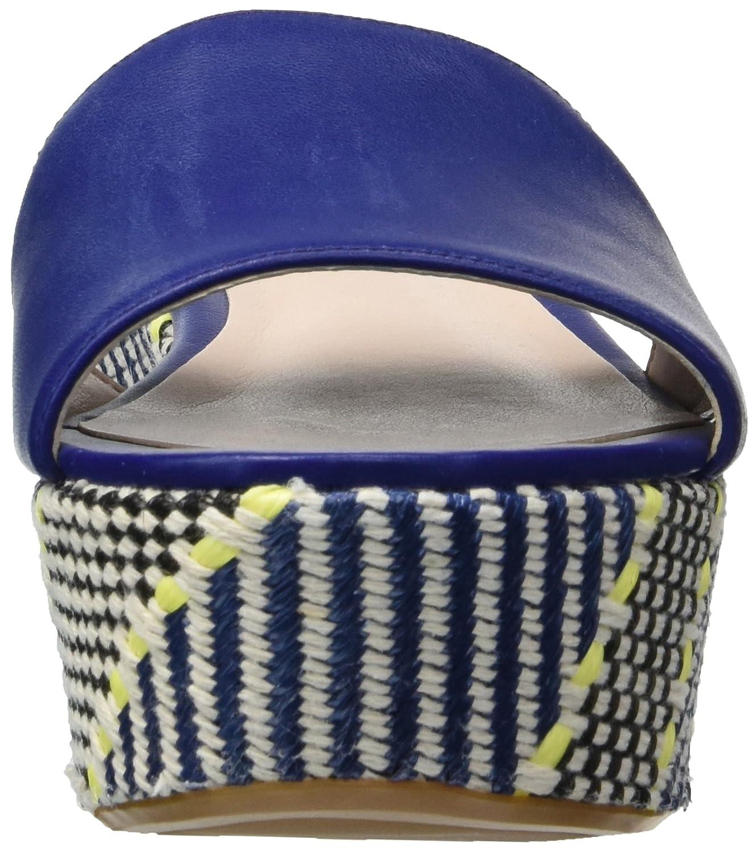 Nine West Women's Falardo Leather Platform B076HMKCW3 9.5 B(M) US|Dark Blue