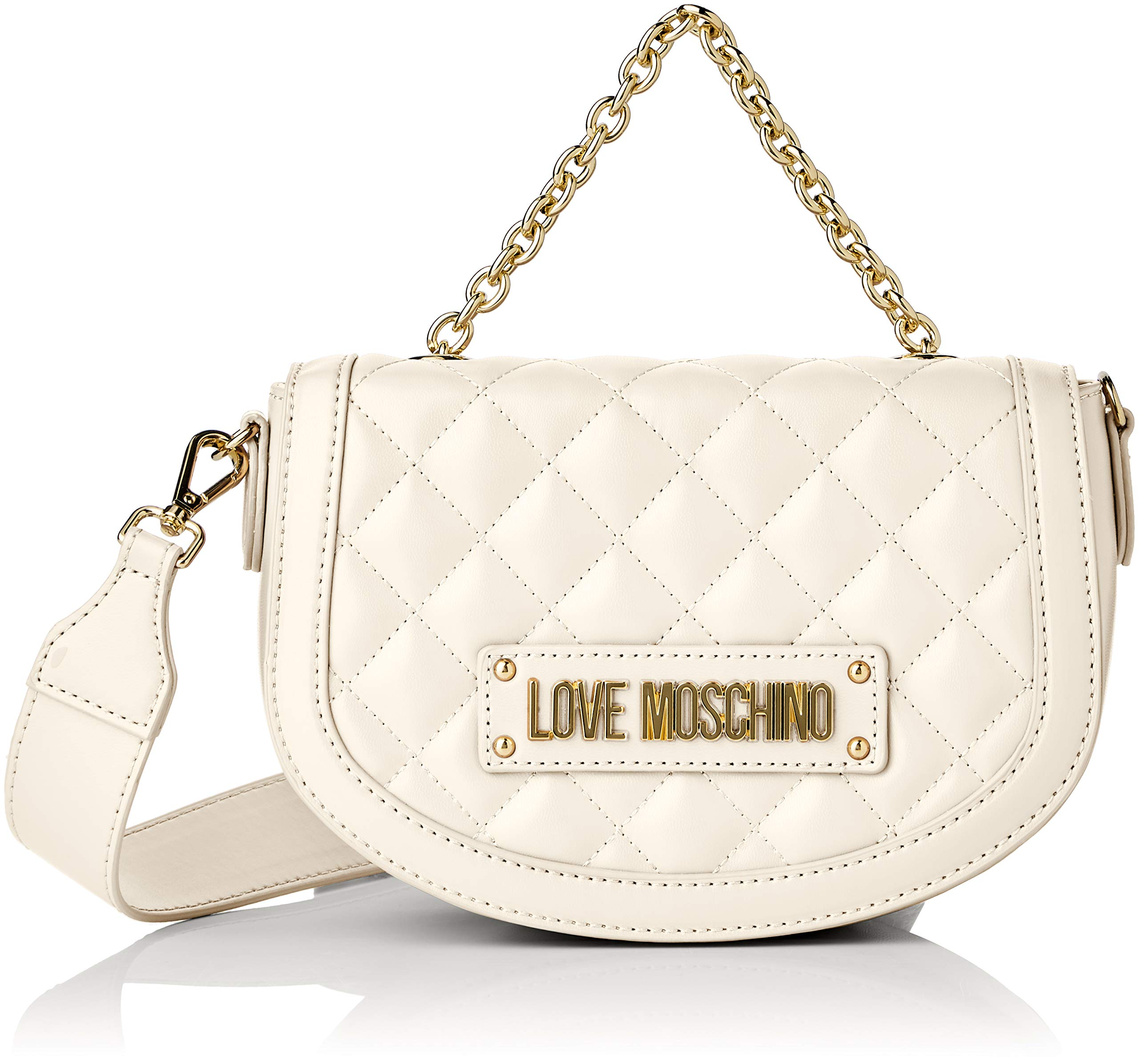 Love Moschino Quilted Nappa Pu, Women's, Off-White (Avorio), 15x10x15 cm (W x H L)