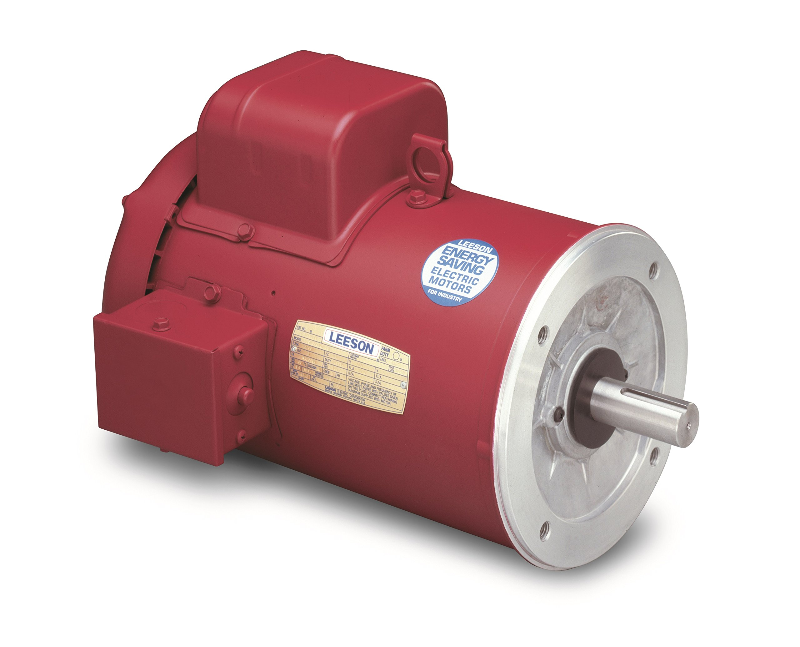 Leeson 110492.00 Hi-Torque Agricultural Motor, 1 Phase, 56C Frame, Round Mounting, 1/2HP, 1800 RPM, 115/208-230V Voltage, 60Hz Fequency