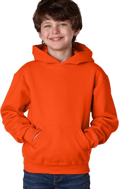 Jerzees Youth 8 oz. 50//50 NuBlend Fleece Pullover Hood FOREST GREEN 996Y