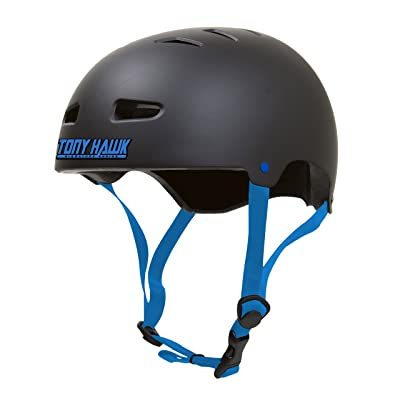 Tony Hawk Skateboard Helmet, Black, Large/X-Large : Sports & Outdoors