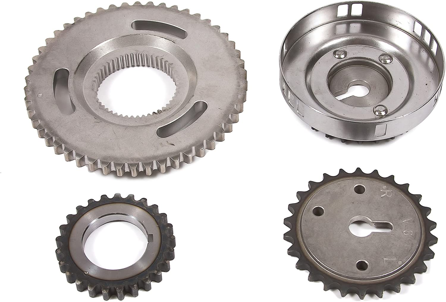 Evergreen TKTCS5037LOP Fits 04-07 Mitsubishi Jeep Dodge 3.7L Timing Chain Kit Oil Pump NGC Cam Gear Timing Cover Gasket