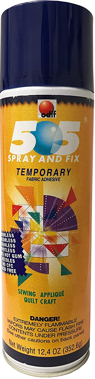 Odif Usa 505 Spray and Fix Temporary Fabric Adhesive 12.4oz 505CAN124Z