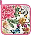Michel Design Works Cotton Potholder, Peony