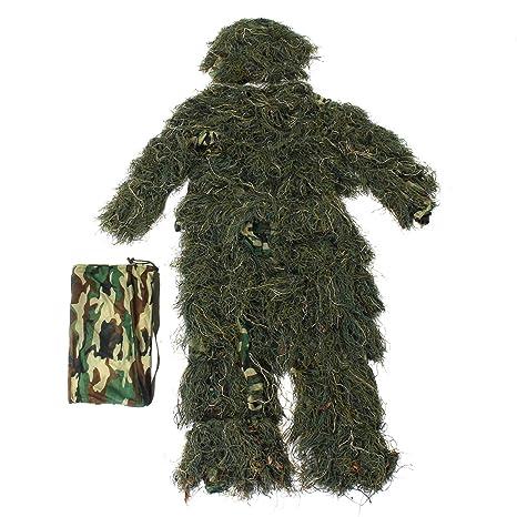 JenNiFer Woodland Camo Camuflaje Ropa 3D Árbol Caza Adultos Ghillie Suit