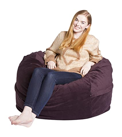 Magnificent Giant Bean Bag Chairs Premium Foam Filled Lounge Sac Posh Microfiber Onthecornerstone Fun Painted Chair Ideas Images Onthecornerstoneorg