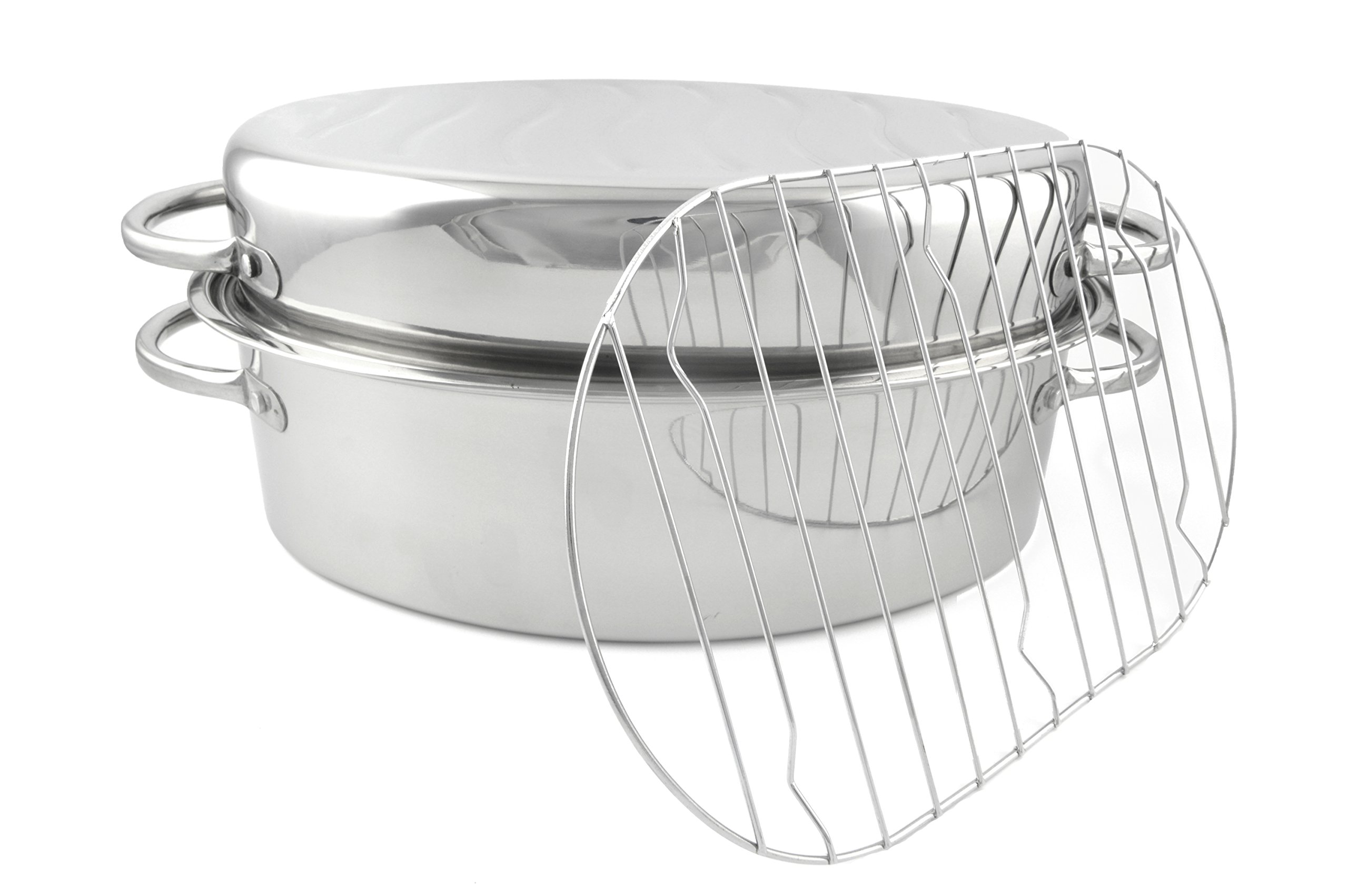 Starcrafts Stainless Steel Roaster With Rack & S.S.Lid - 92223