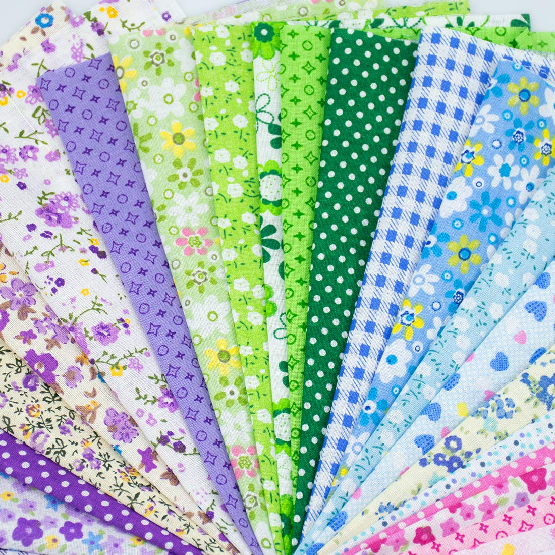 Foraineam 60 PCS Different Designs9.8'' x 9.8'' (25cm x 25cm) Cotton Craft Fabric Bundle Printed Patchwork Squares for DIY Sewing Quilting Scrapbooking by Foraineam (Image #5)
