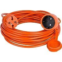 Cable de extensión alargador de cable Jardín Naranja