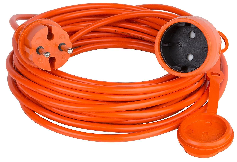 Cable de extensión alargador de cable Jardín Naranja 10 15 20 25 ...