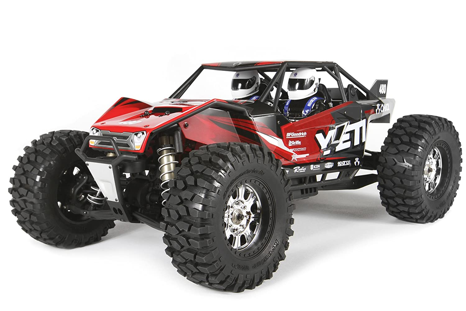 Amazon.com: Axial Yeti XL 4WD RC Rock Racer Monster Buggy Off-Road ...
