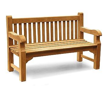 Jati Gladstone Teak Park 3 Seater Garden Bench 1 5m 5ft Garden