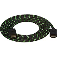Snakebyte HDMI: Cable 4K/3D/1080P of Length: 2m - Black/Green - Xbox One