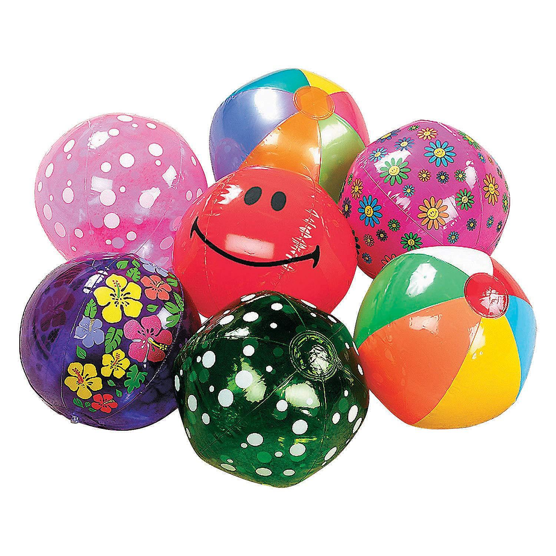 Fun Express - Mega Beach Ball Assortment (50pc) - Toys - Assortments - 50Pc Assortments - 50 Pieces by Fun Express