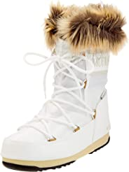 Moon Boot Woman's Monaco Low Wp 2 Snow Boot in White Waterproof Fabric