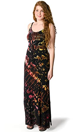 02ff8fe5f7 TCG Women s Tie-Dye 2.0 Maxi Dress - Black-Mega-Multi at Amazon ...