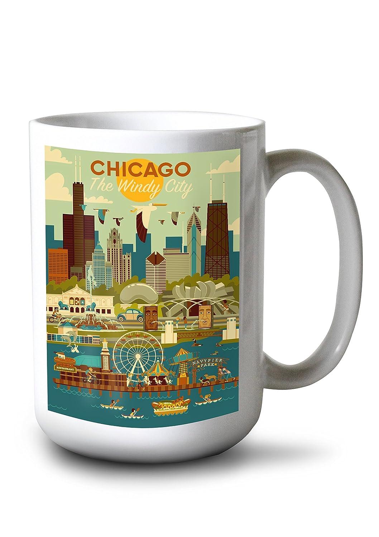 最終値下げ シカゴ、イリノイ州 – Mug Geometric 16 x 24 B077RZV6CW Giclee Print – LANT-83140-16x24 B077RZV6CW 15oz Mug 15oz Mug, マツダマチ:c9bb5dfb --- 4x4.lt