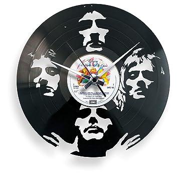 DiscOClock - Reloj de Pared de Vinilo LP 33 RPM silencioso Bohemian