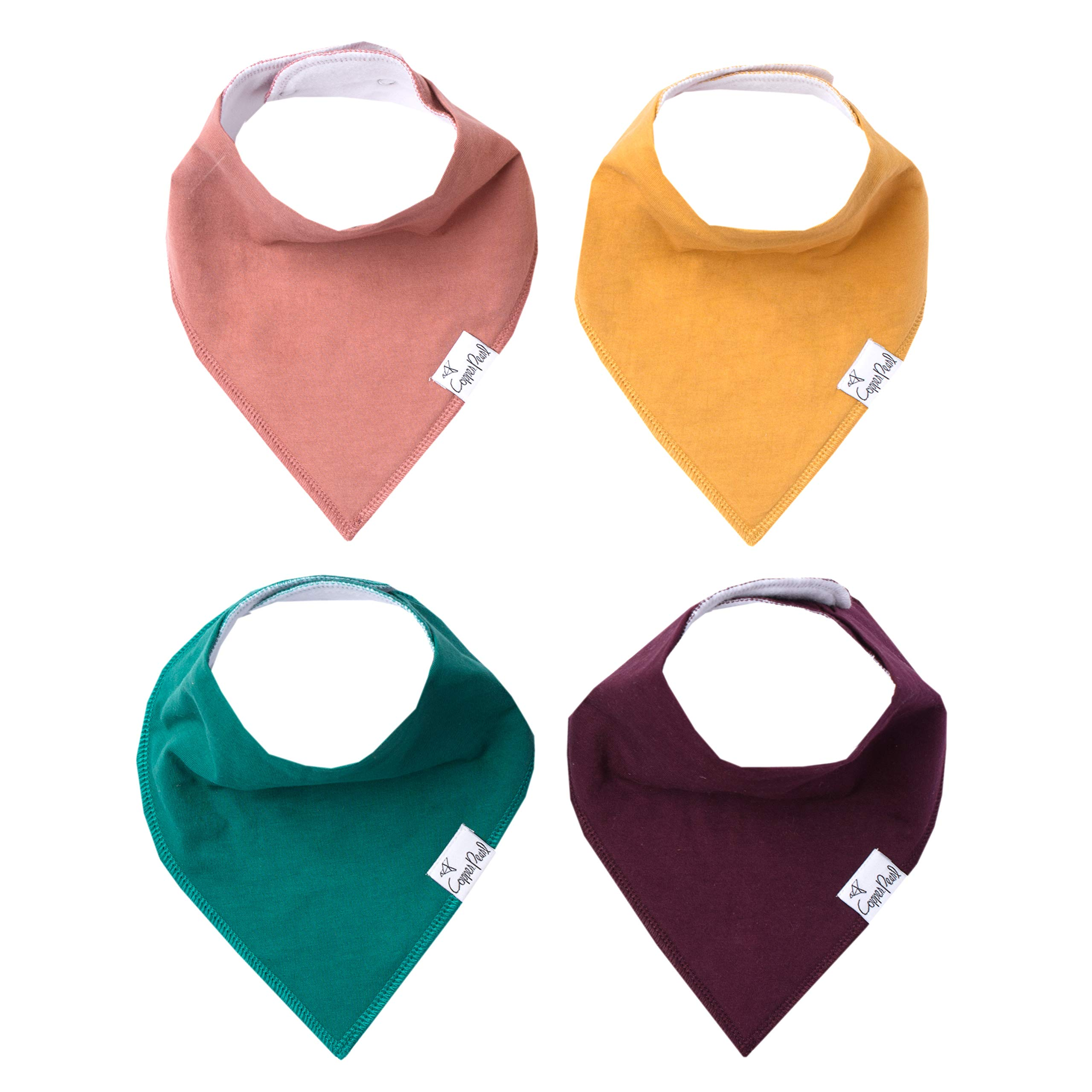 Baby Bandana Drool Bibs for Drooling and Teething 4 Pack Gift Set ''Jade'' by Copper Pearl by Copper Pearl