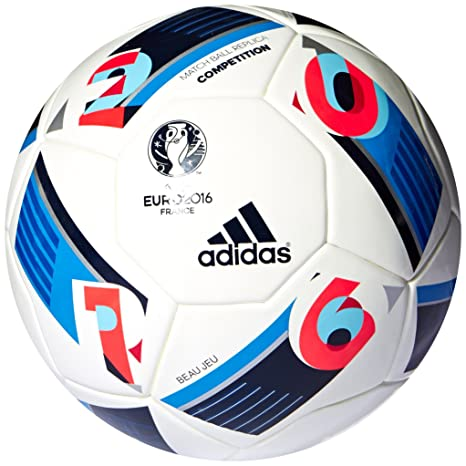 online store fc24f d2d21 Buy adidas Euro 16 Competition Football, Mens Size 5 (White) Online at Low  Prices in India - Amazon.in