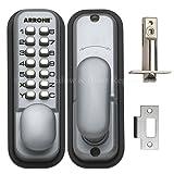 HOPPE 87128205arrone AR/d-195mc Digital Push Button Tür Schloss PAD Schlüssel–Silber