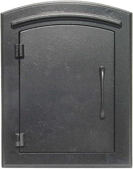 Qualarc Man 1400bl Manchester Column Mount Mailbox Plain Door Black Home Improvement Amazon Com
