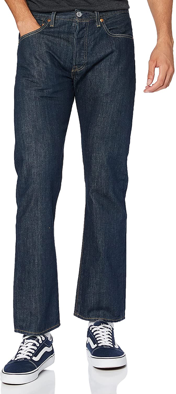 Levi's Mens 501 Max 71% OFF Regular Straight-Leg Denim Portland Mall Le Jeans 31 Size Blue