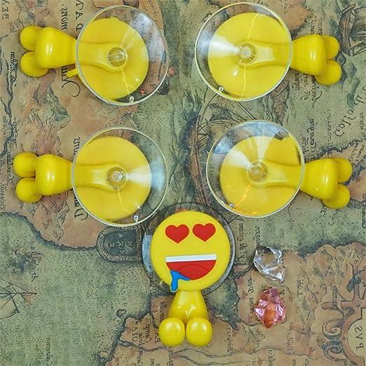 Caramella burbujas 12 sets Emoji soporte para cepillos de dientes con ventosa cepillo de dientes de goma para percha: Amazon.es: Hogar