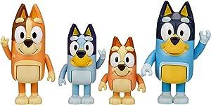 "Bluey & Family 4 Pack of 2.5-3"" Poseable Figures, Including Bluey, Bingo, Mum & Dad"