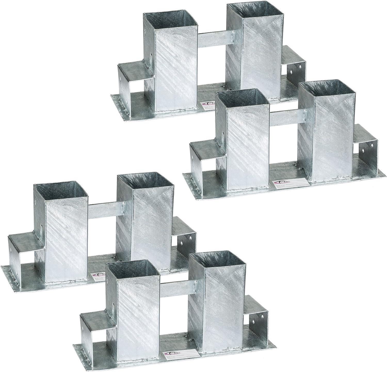 TecTake Stapelhilfe für Kaminholz Brennholz Holzstapelhilfe   feuerverzinkter Stahl  variabel anwendbar - Diverse Mengen- (18er Set  Nr.  1802521)