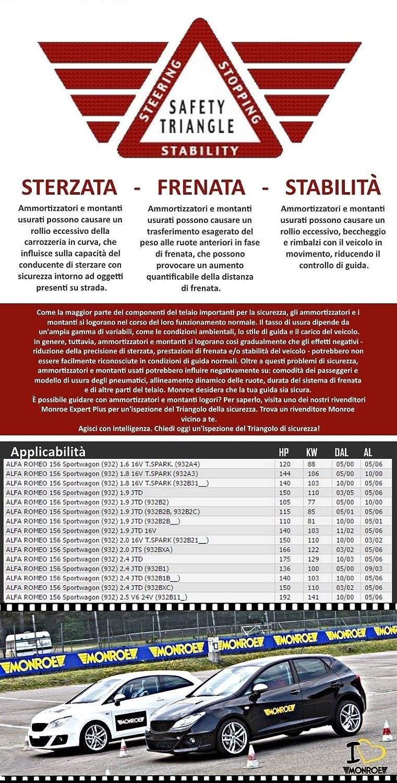KIT 4 AMMORTIZZATORI ORIGINALI MONROE ANTERIORI 45009 + 16406 POSTERIORI