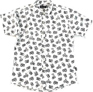 TRANKILO Camisa Chapas Blanco. (S): Amazon.es: Ropa y accesorios