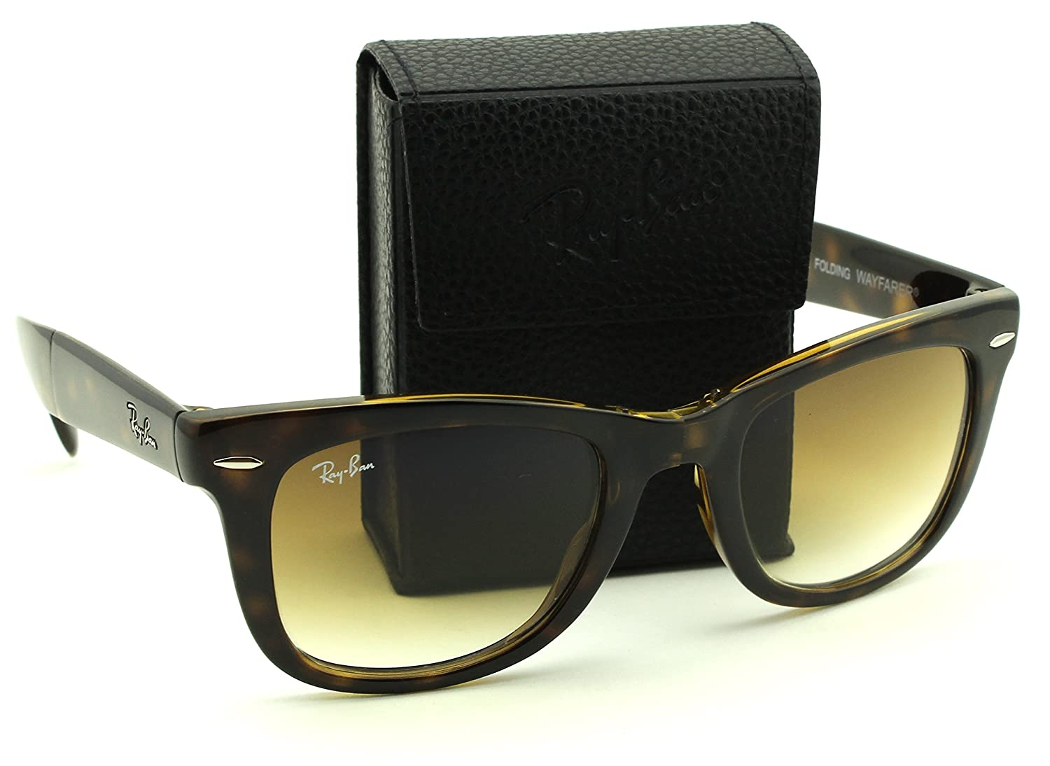 f5a69a00cb Amazon.com  Ray-Ban RB4105 710 51 Folding Wayfarer Tortoise Frame   Brown  Gradient Lens 54mm  Shoes