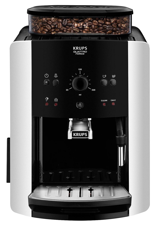 Krups EA8118 Independiente 1.6L Negro - Cafetera (Independiente, 1,6 L, Granos de café, Molinillo integrado, Negro)