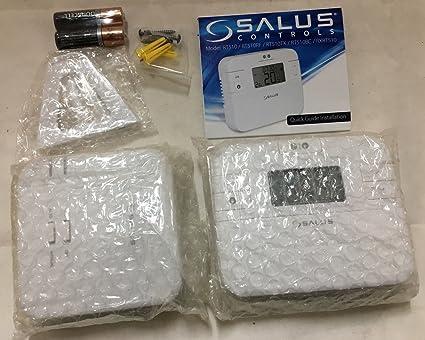 Termostato digital de la marca Salus, RT510RF, con radio frecuencia, inalámbrico