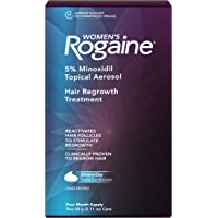 Women's Rogaine 5% Minoxidil Foam for Hair Thinning and Loss, Topical Treatment for Women's Hair Regrowth, 4-Month…