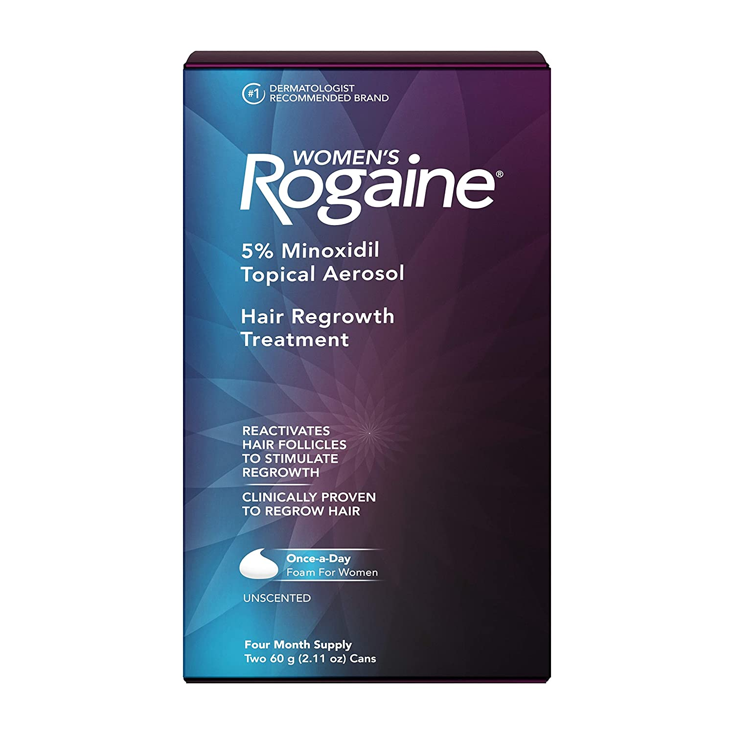 Women's Rogaine 5% Minoxidil Foam for Hair Thinning and Loss, Topical Treatment for Women's Hair Regrowth, 4-Month Supply : Beauty