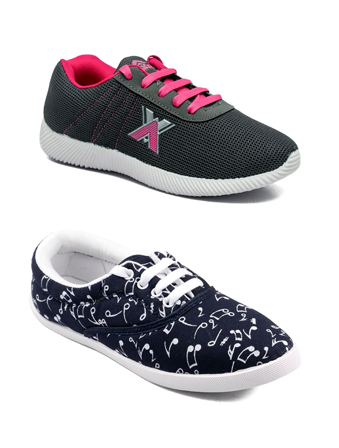 48e1084a2e Asian Women s Casual Shoes Combo Pack of 2-0401-W75  Buy Online at Low  Prices in India - Amazon.in