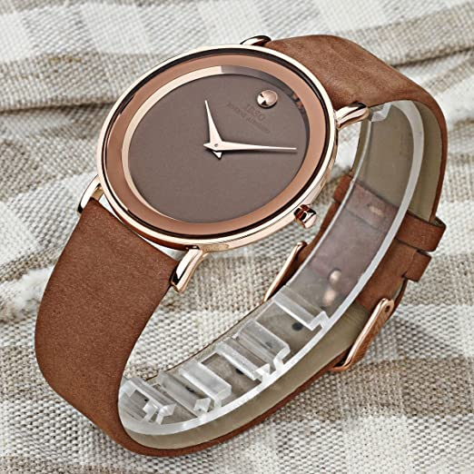 Amazon.com: Fashion Ultra Thin Couple Watches Quartz Waterproof Leather Strap Lover Casual Watches 2216G (C2216GBGBR): Watches