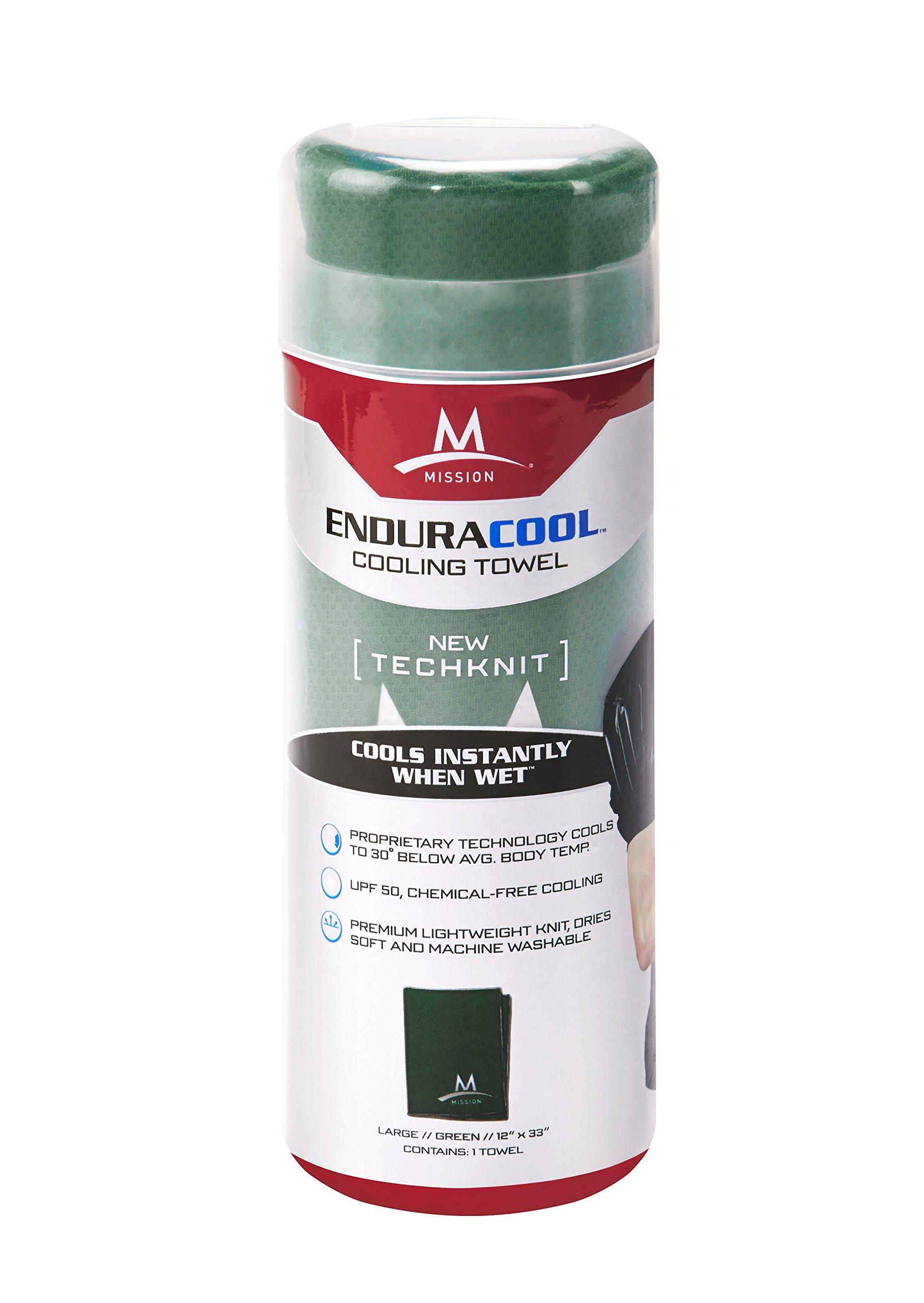Mission Enduracool Techknit Cooling Towel, Green, Large