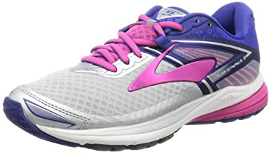 Brooks Women s Ravenna 8 Silver Clematis Blue Very Berry 5 ... 1ddc9cf457