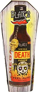 product image for Blair's Mega Death Hot Sauce with Liquid Fury and Skull Key Chain, 5 Ounce