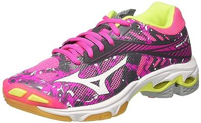 Mizuno Damen Wave Lightning Z4 WOS Volleyballschuhe, Rose/gris/Blanc