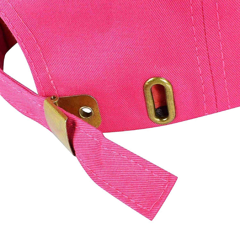 Rosa caliente Gorra de b/éisbol ajustable de algod/ón de estilo vintage unisex marca