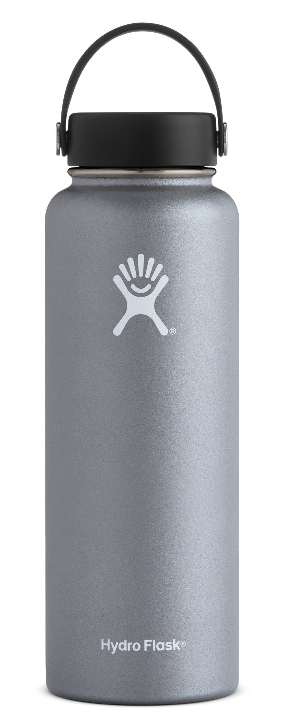 Hydro Flask 40 oz Double Wall Vacuum Insulated Stainless Steel Leak Proof Sports Water Bottle, Wide Mouth with BPA Free Flex Cap, Graphite by Hydro Flask