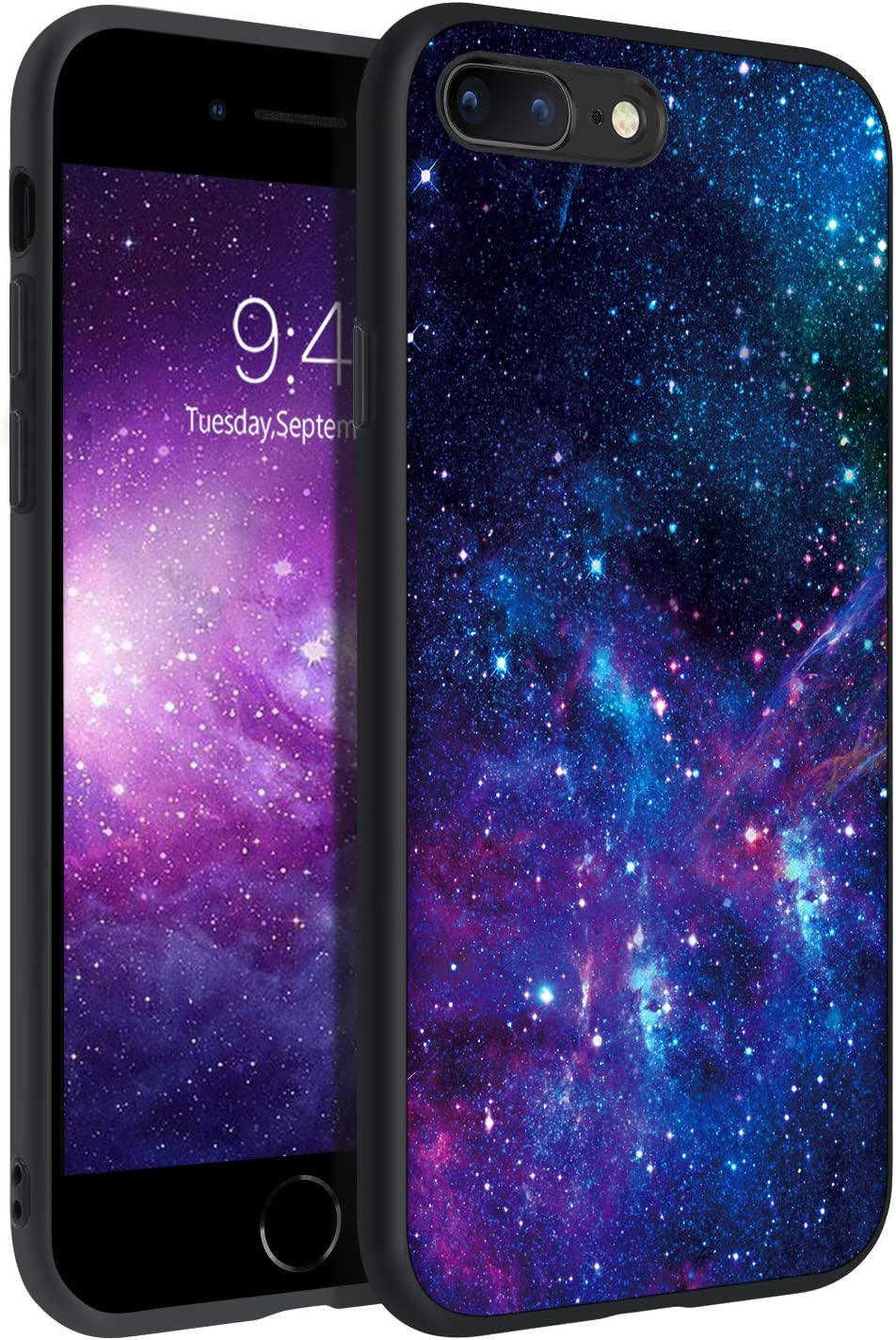 BENTOBEN iPhone 8 Plus Case, iPhone 7 Plus Case, Slim Fit Glow in The Dark Soft Flexible Bumper Protective Shockproof Anti Scratch Non-Slip Cases Cover for 5.5