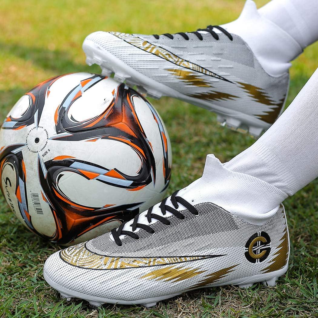 Donbest Fu/ßballschuhe Herren High Top Stollen Spikes Cleats Trainingsschuhe Professionelle Fussballschuhe Outdoor Sport Football Schuhe