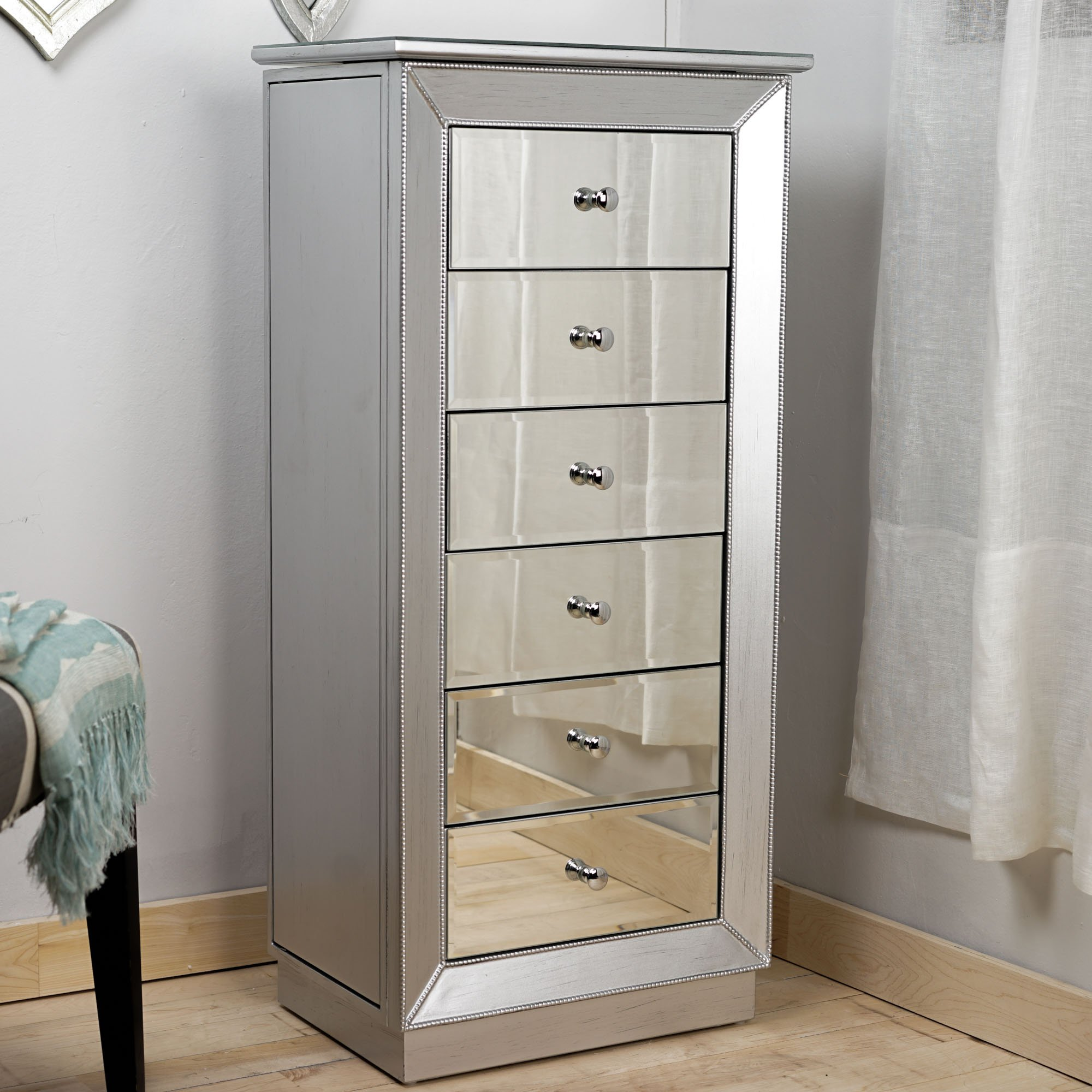Hives and Honey Mia Jewelry Armoire, Metallic Silver by Hives and Honey (Image #5)