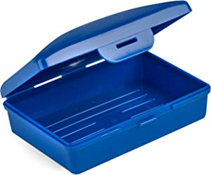 Hugging Tree Hill Soap Box Dish - Cobalt Blue - Container Perfect for Cosmetics, Travel, Camp, and Storage. Made in USA! 4 x 2.5 x 1.5 in. (Blue)